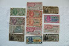 US Military Payment Certificates (MPCs) 13 total 1948-65, Series 471-641