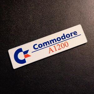 Commodore Amiga 1200 Color Label / Logo / Sticker / Badge 49x13 mm [263f]