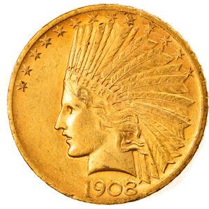 [#858654] Coin, United States, Indian Head, $10, Eagle, 1908, U.S. Mint