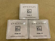 New listing Emotiva Vsub-1 24-Bit Wireless Subwoofer System (1 transmitter & 2 Receicers)