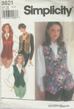 80s Simplicity Sewing Pattern Set Of Lined Waistcoats / Vests  Sizes 10-14