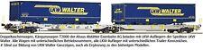 Roco 75902 Doppeltaschenwagen LKW Walter Ep VI Auf Wunsch Märklin Achsen gratis