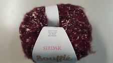Sirdar Bouffle #726 ROSSO Burgundy Soft & Light Chunky Yarn 50g