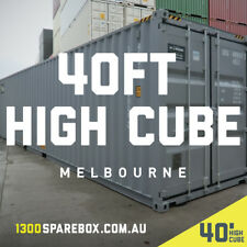 40FT NEW BUILD High Cube shipping containers | + lockbox - Melbourne