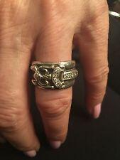 RARE CHROME HEARTS Sterling Silver & Diamond Dagger Ring!