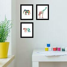 CORNICI Muro Giraffa Elefante Orso Polare Stampa Tela Arte Ufficio Bar Arredamento