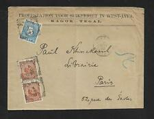 NETHERLANDS INDIES TO FRANCE WEST JAVA DUE COVER 1897