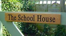 Wooden House Name Carved Sign/Personalised Engraved Outdoor Oak Gate Plaque