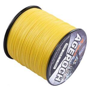 Agepoch Braid 100M-2000M Yellow Dyneema Braided Fishing Line PE 6LB-300LB