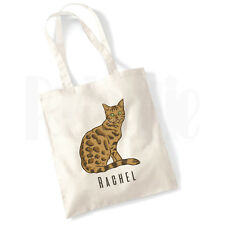 Personalised 'Bengal' Cat Canvas Tote Bag- GIFT FOR PET CAT OWNER