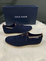 Cole Haan Original Grand Wingtip Oxford Stitchlite Navy Blue C27960 Men Shoes