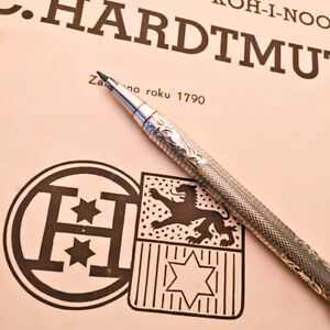 1950s L.C.HARDTMUTH SILVER GUILLOCHE LEADHOLDER 2mm 1.8mm VINTAGE CLUTCH PENCIL