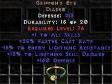 Griffon's Eye - 15-17% ELR/10-12% LSD - Europe Ladder Softcore - Diablo 2 - D2 I