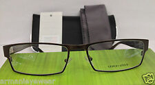 Giorgio Armani GA810 Color PM2 Brown Metal Eyeglasses Frame 55-17-135 Italy NEW