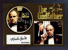 "Marlon Brando SIGNED FRAMED PHOTO AND""The Godfather""CD Disc Presentation Display"