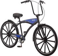 Schwinn 27.5 Mens Kokomo Classic Cruiser Bike Chopper Handle Black Blue NEW