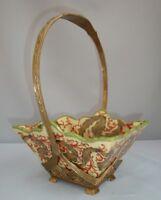 Centerpiece Basket Art Deco Style Art Nouveau Style Porcelain Bronze Fruit plate