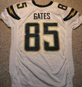 SAN DIEGO CHARGERS ANTONIO GATES GAME JERSEY 2007 CHARGERS GAME CUT JERSEY 54