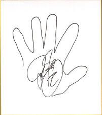 Mick Foley Signed w Hand Sketch Shikishi Board Bas Beckett Coa Wwe Ecw Autograph