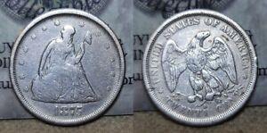 1875 S Twenty Cent Piece 20c Nice Details Polished