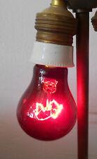 Alte rote Glühbirne Glühlampe Heilstrahler Heizstrahler Rotlicht Vintage !