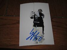 KRISTERS GUDLEVSKIS AUTOGRAPHED LATVIJA OLYMPIC 4X6 PHOTO # 6