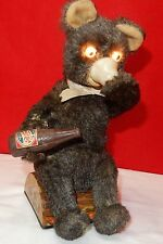 Vintage 1950's Battery Operated PEPSI COLA BEAR - Japan Antique Toy
