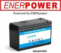 ENERpower LiFePo4 12V (12,8V) 10Ah ersetzt Bleiakku, Blei-Gel 12V Akkus 128Wh