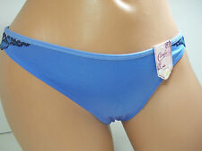 Candie's Blue Lace Trimmed Thong Panty, Jr. Size M #154