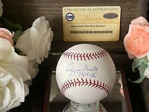"OZZIE SMITH SIGNED/AUTOGRAPHED HOF MLB BASEBALL INSCRIBED ""HOF 02""STEINER"