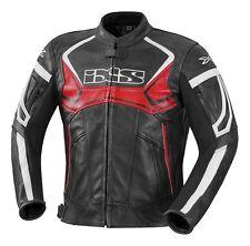 iXS Hype Lederjacke Gr. 54 schwarz rot weiß Motorrad Touring Sport