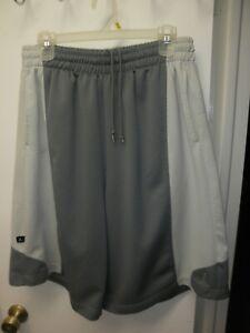Nike Air Jordan Basketball Shorts White/Gray Size XL