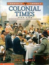 Chronicle Of America: Colonial Times, 1600-1700 by Masoff, Joy
