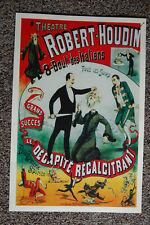 Robert Houdin magician poster #9 1891 Le Decapite Recalcitrant
