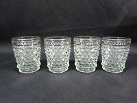 Hobnail Glass Shot Glass Set of 4 Vintage Clear Glass Dewdrop