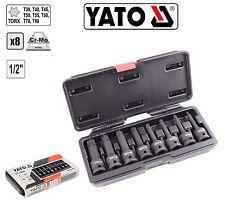 """Yato Professional 9pcs 1/4""""3/8""""Torx Star Female Socket Set E5,6,7,8,10,12,14,E16"""