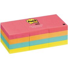 """Post-it Notes 653AN Cape Town Collection, 1-3/8 x 1-7/8"""", Pack of 12 Pads"""