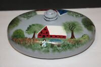 Vintage Painted Oval Foot Bed Warmer Hot Water Bottle