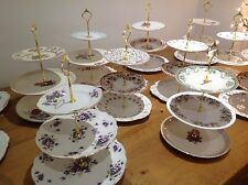3 Tier Vintage Cake Stands TO HIRE Wedding Christening Afternoon Tea