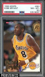 1996 Hoops #281 Kobe Bryant Los Angeles Lakers RC Rookie HOF PSA 8.5 NM-MT+