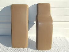 1991-99 Cadillac deville Buick tan leather center console lids front & rear pair