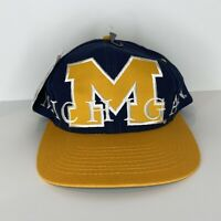 Vintage 1984 Brand New NWT Michigan Wolverines NCAA SnapBack Hat Very Rare!!!!