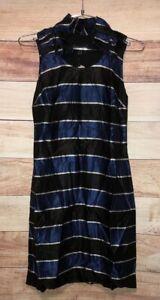 Banana Republic Women's Dress Size 0P Sleeveless Ruffle Neck NWT $138 LBB76