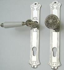 Jugendstil Art Deco Wohnungstür Beschlag Nickel #29-3-15-NW