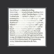 """DAVID BOWIE VALENTINE'S DAY  7"""" SINGLE PICTURE DISC"""