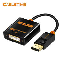 CABLETIME Display Port to DVI adapter Male to Female Active 1080P 3D for HDTV PC