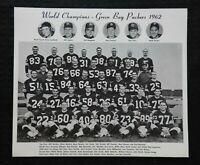 ORIGINAL 1962 GREEN BAY PACKERS 8 x 10 CHAMPIONSHIP TEAM PHOTOGRAPH VERY NICE