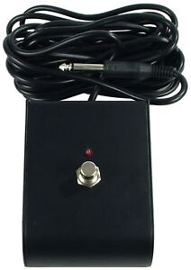 """NEW - 1 One Button amplifier footswitch w/ LED contoured black with 1/4"""" TS plug"""