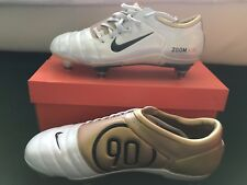 Nike Air Zoom Total90 iii Football Boots White Gold Uk Size 9 Collector Rare