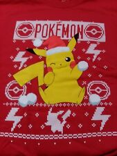 Pokemon Christmas Holiday Pikachu Ugly Sweater Detective 2XL could fits Small A9